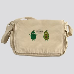 crazy avocado undresses Messenger Bag
