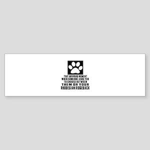 Rhodesian Ridgeback Awkward Dog D Sticker (Bumper)