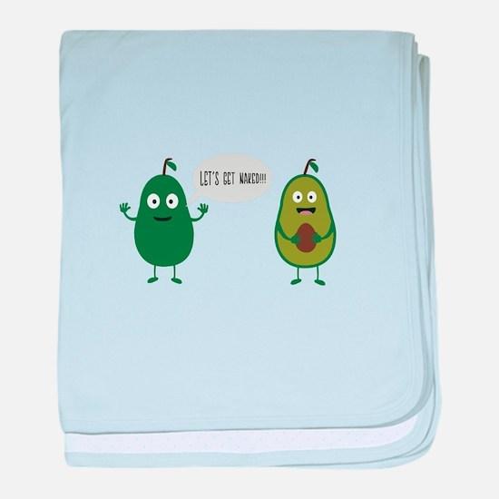 crazy avocado undresses baby blanket