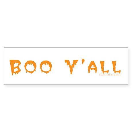 Boo Y'all Orange Bumper Sticker