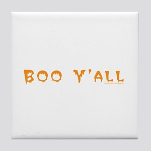 Boo Y'all Orange Tile Coaster