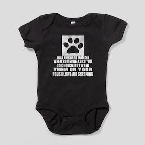 Polish Lowland Sheepdog Awkward Dog Baby Bodysuit