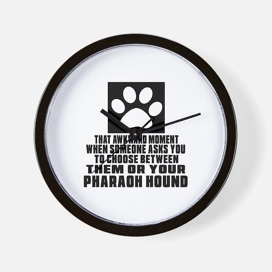 Pharaoh Hound Awkward Dog Designs Wall Clock