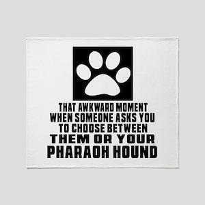 Pharaoh Hound Awkward Dog Designs Throw Blanket