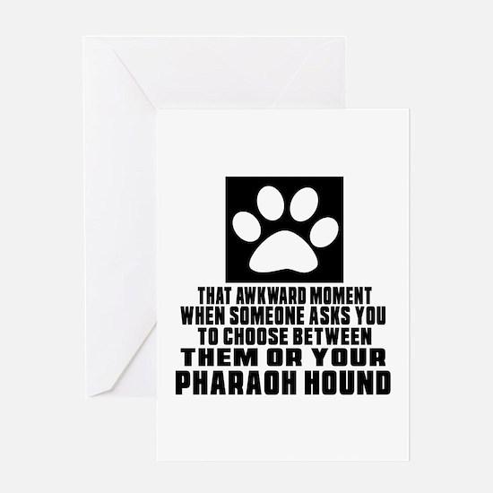 Pharaoh Hound Awkward Dog Designs Greeting Card