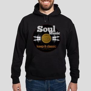 Soul Music Vinyl Classic on black Hoodie