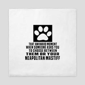 Neapolitan Mastiff Awkward Dog Designs Queen Duvet