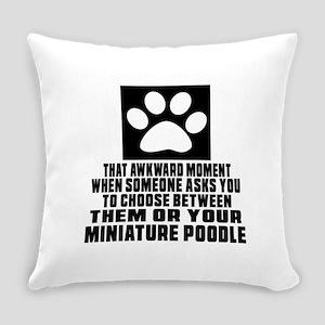 Miniature Poodle Awkward Dog Desig Everyday Pillow