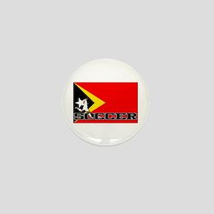 East Timor Flag Soccer Mini Button