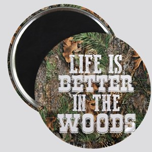 BETTER IN THE WOODS Magnets