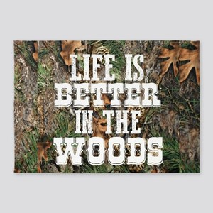 BETTER IN THE WOODS 5'x7'Area Rug