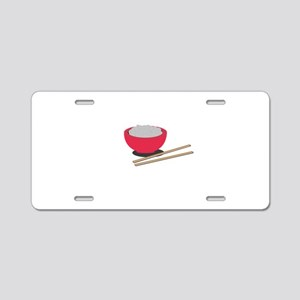 Asian rice Aluminum License Plate