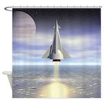 Rocket Launch Shower Curtain