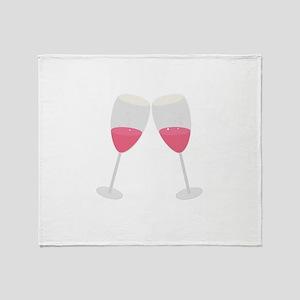 champagne glasses Throw Blanket