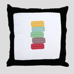 colorful macarons Throw Pillow