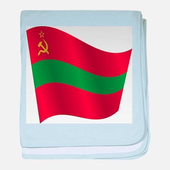 Transnistria flag baby blanket
