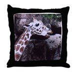 Giraffe Head Throw Pillow