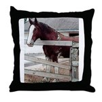 Clysedale Horse Throw Pillow