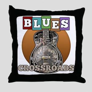 vintage blues music Throw Pillow