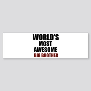 World's Most Awesome Big Brother Sticker (Bumper)