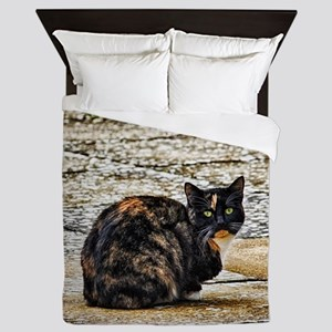 Tortoiseshell Cat Queen Duvet