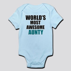 World's Most Awesome Aunty Infant Bodysuit