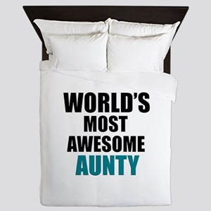 World's Most Awesome Aunty Queen Duvet