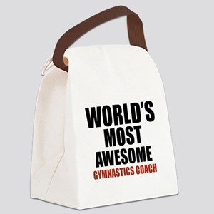 World's Most Awesome Gymnastics C Canvas Lunch Bag