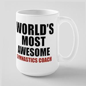 World's Most Awesome Gymnastics Coach Large Mug
