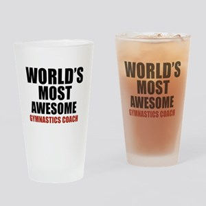 World's Most Awesome Gymnastics Coa Drinking Glass