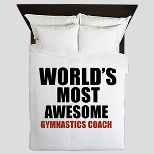 World's Most Awesome Gymnastics Coach Queen Duvet
