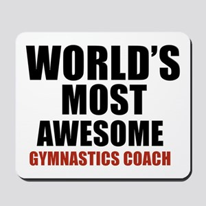World's Most Awesome Gymnastics Coach Mousepad
