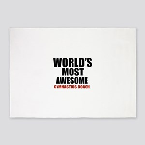 World's Most Awesome Gymnastics Coa 5'x7'Area Rug