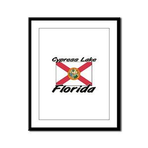 Cypress Lake Florida Framed Panel Print