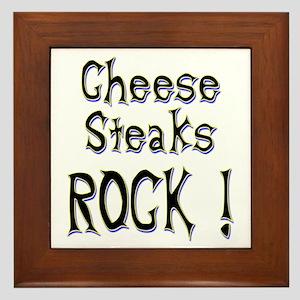 Cheese Steaks Rock ! Framed Tile