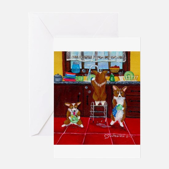 Lick, Wash, Dry Greeting Cards