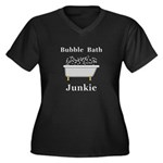 Bubble Bath Women's Plus Size V-Neck Dark T-Shirt