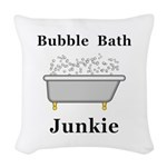 Bubble Bath Junkie Woven Throw Pillow