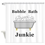 Bubble Bath Junkie Shower Curtain