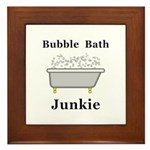 Bubble Bath Junkie Framed Tile