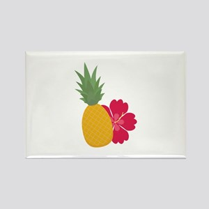 Pineapple with flower Magnets