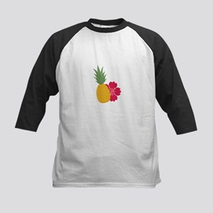 Pineapple with flower Baseball Jersey