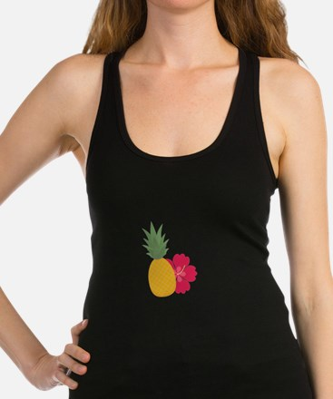 Pineapple with flower Racerback Tank Top