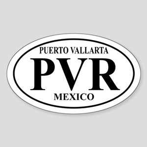 PVR Puerto Vallarta Oval Sticker