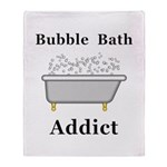 Bubble Bath Addict Throw Blanket