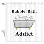Bubble Bath Addict Shower Curtain