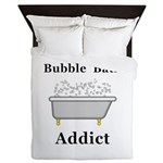 Bubble Bath Addict Queen Duvet