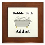Bubble Bath Addict Framed Tile