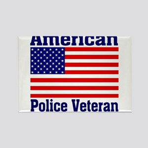 American Police Veterans Patriotic Flag Magnets