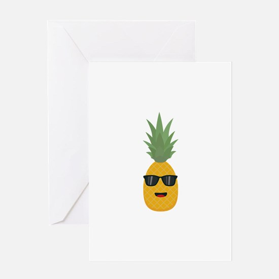 cool pineapple Greeting Cards